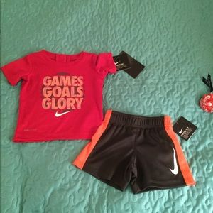 Nike Dri Fit 2 piece set for baby boy 3-6 mos NWT